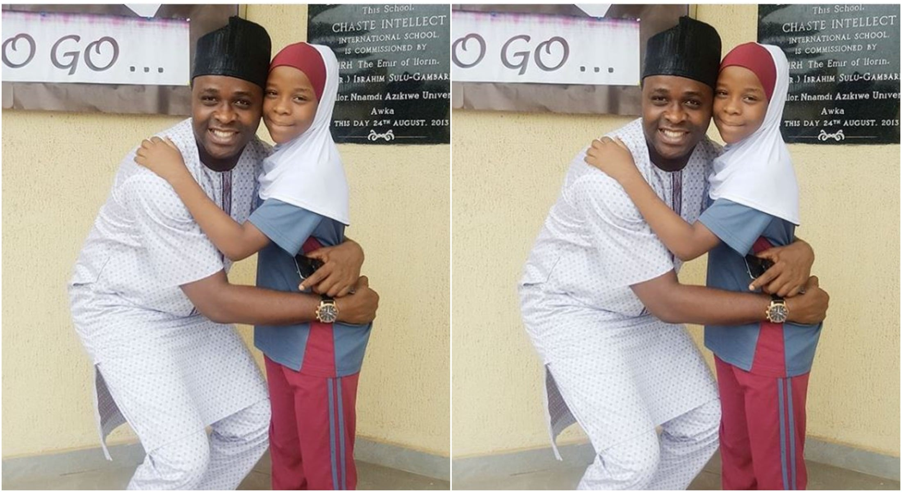 Femi Adebayo prays for his daughter