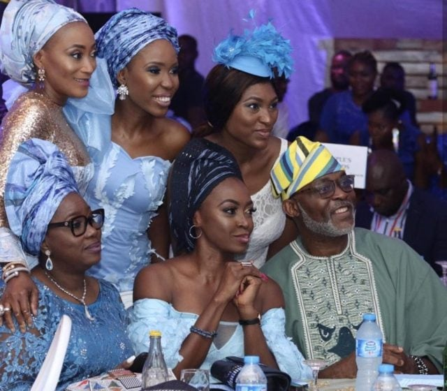 Photo of Rita Dominic, Ireti Doyle, RMD, others storm N10million white wedding of Olu Jacobs and Joke Silva's son (photos)