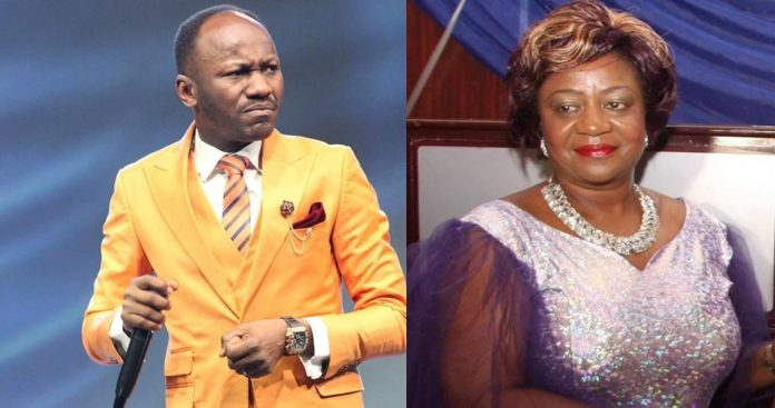 Apostle Johnson Suleiman replies Lauretta Onochie, says she's burden by challenges of life