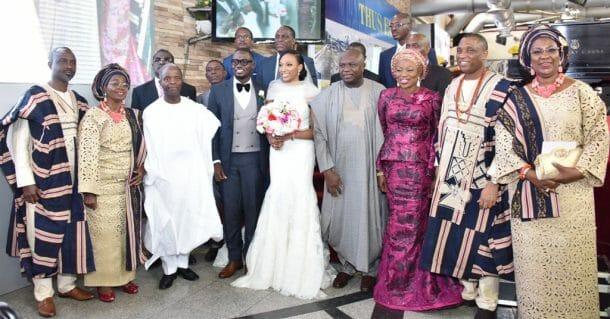 Photo of Osinbajo, Ambode storm Lagos SSG, Tunji Bello's daughter's wedding (photos)