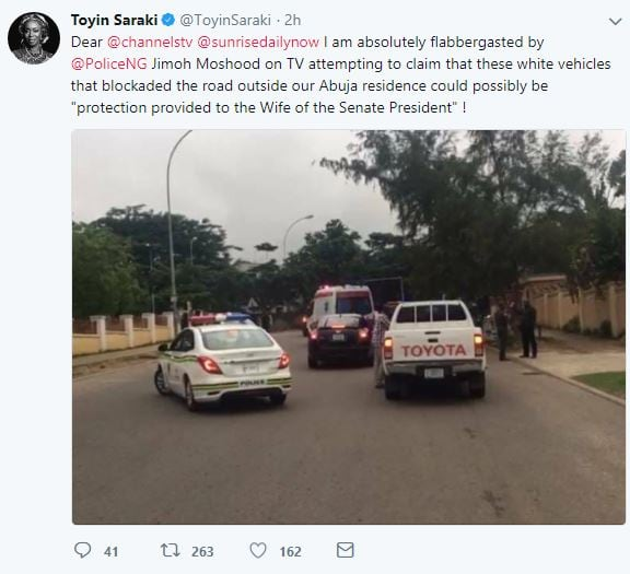 Toyin Saraki blasts police