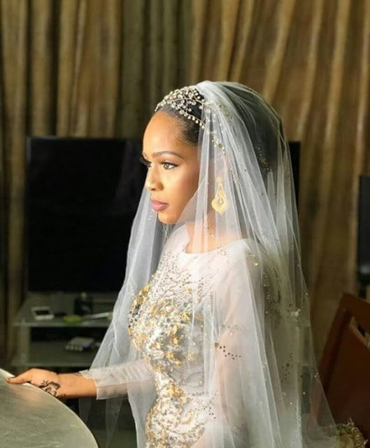 Late Yar'adua's son's bride looks stunning at her wedding reception dinner