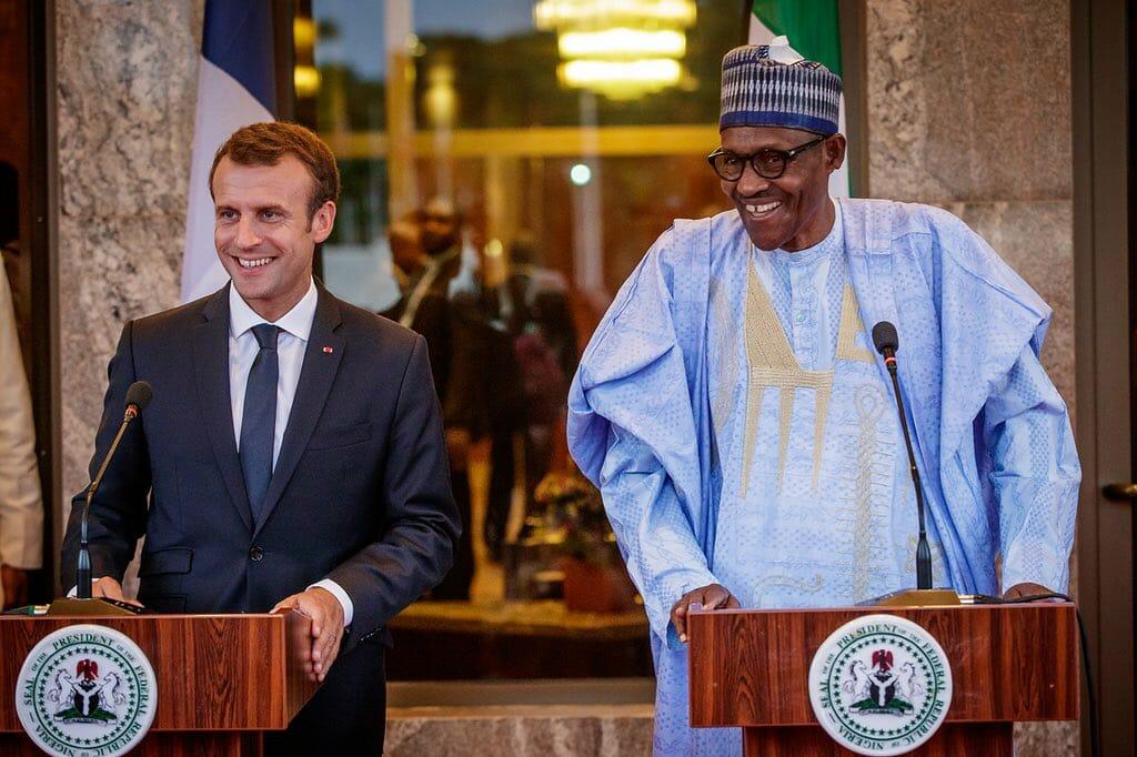 Emmanuel Macron at the New Afrika Shrine