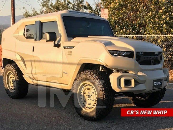 Chris Brown spends $350k on a customized bulletproof Rezvani Tank