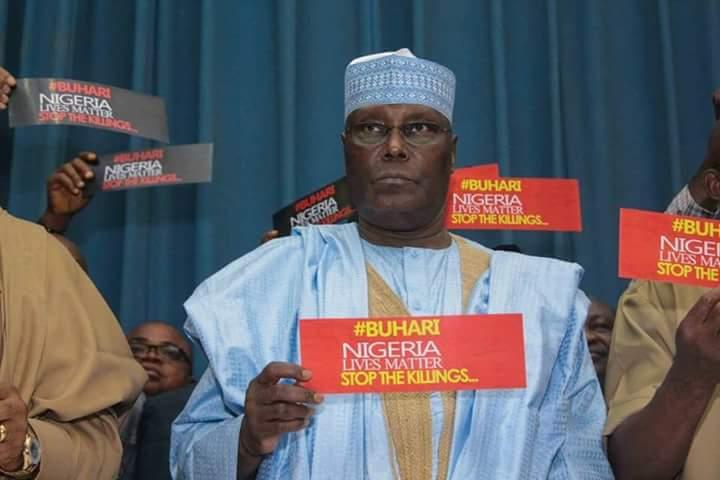 Buhari stop the killings: Atiku, Ekweremadu and others protest against PMB