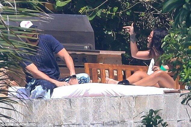 Rihanna and her Saudi billionaire boyfriend pictured having a heated argument