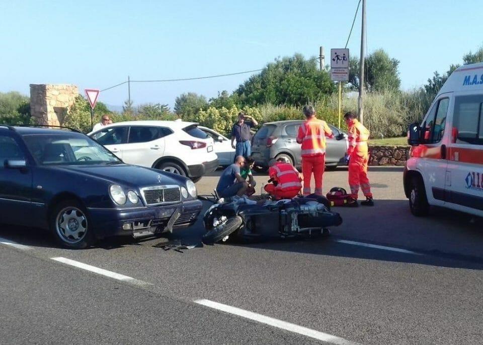George Clooney road accident