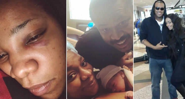 Video of actress Juliet Mgborukwe hitting her husband emerges
