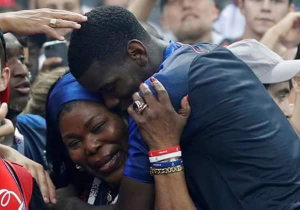 Paul Pogba and his mother