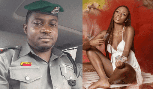 Photo of Police officer accused of slapping Korra Obidi shares video showing her slapping him