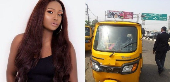 Photo of Man going for interview speaks rudely to prospective employer inside keke Napep