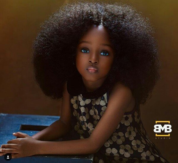 Meet the 5-year-old Nigerian touted as the most beautiful girl in the world