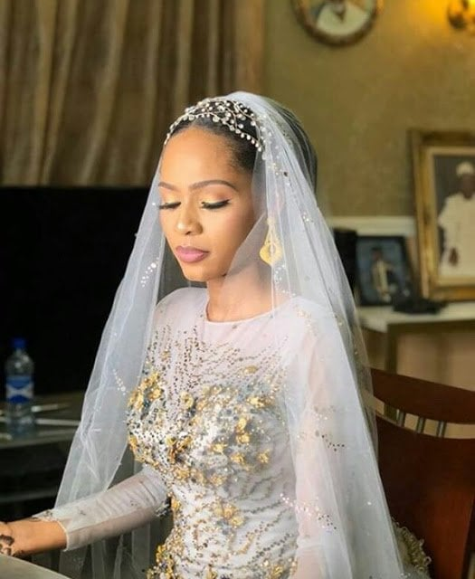Photo of Late Yar'adua's son's bride looks stunning at her wedding reception dinner