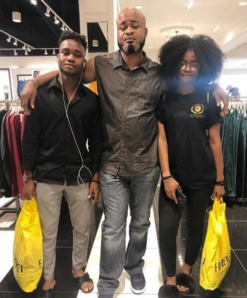 Photo of Iyabo Ojo's kids excited to see their dad for the first time in 6 years