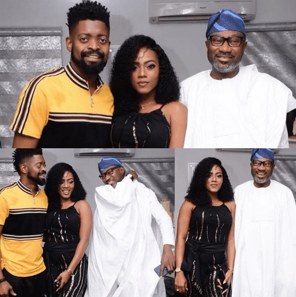 Image result for Basketmouth hosts billionaire, Femi Otedola in his home