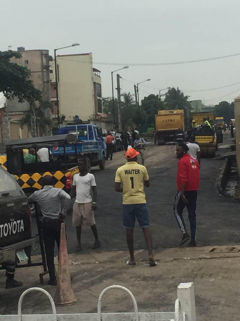 Road leading to New Afrika Shrine gets rehabilitated ahead of Macron's visit