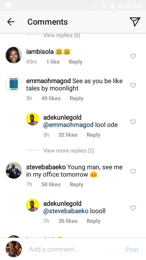 Simi reacts as Adekunle Gold