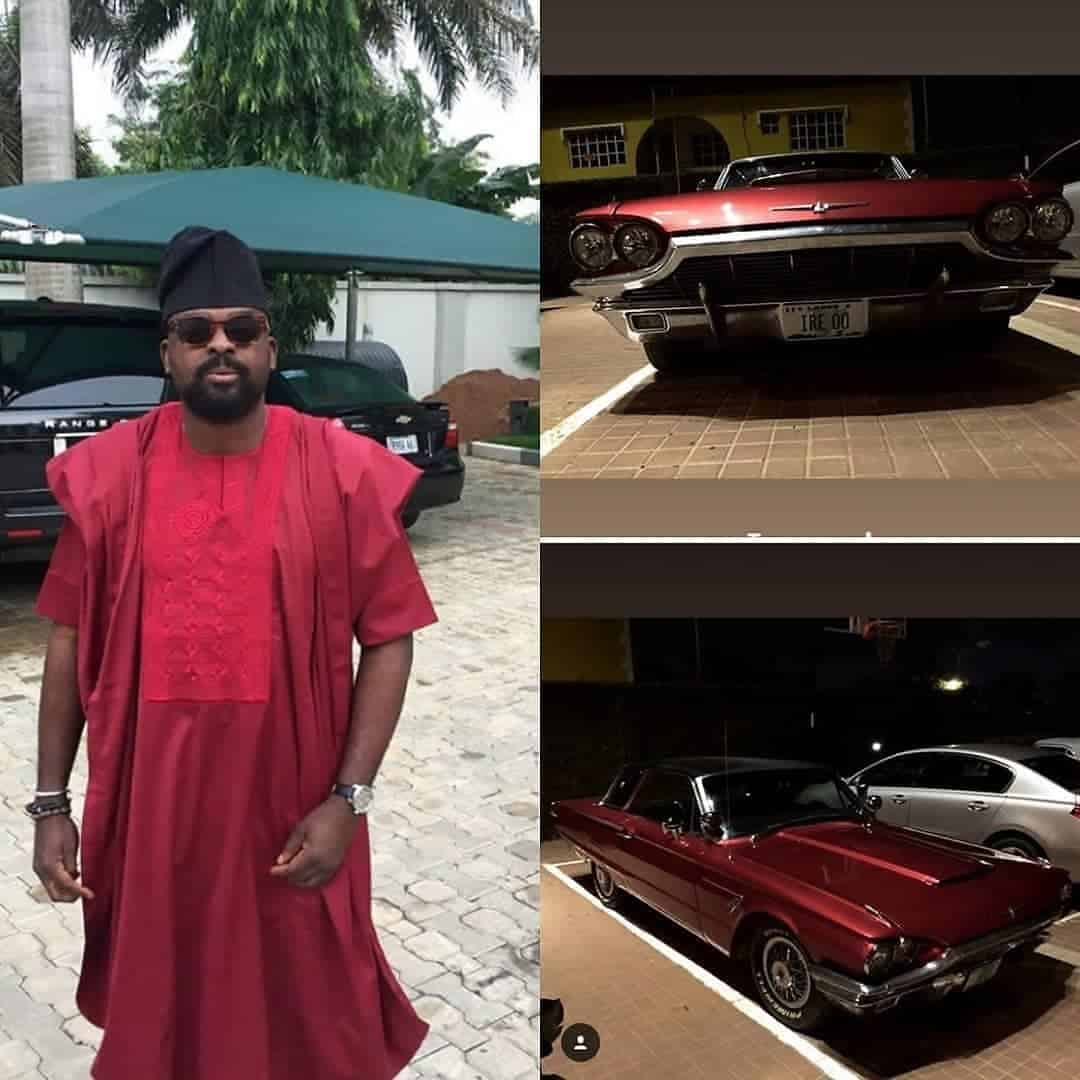 Photo of Kunle Afolayan shows off his newly acquired vintage car (Photos)