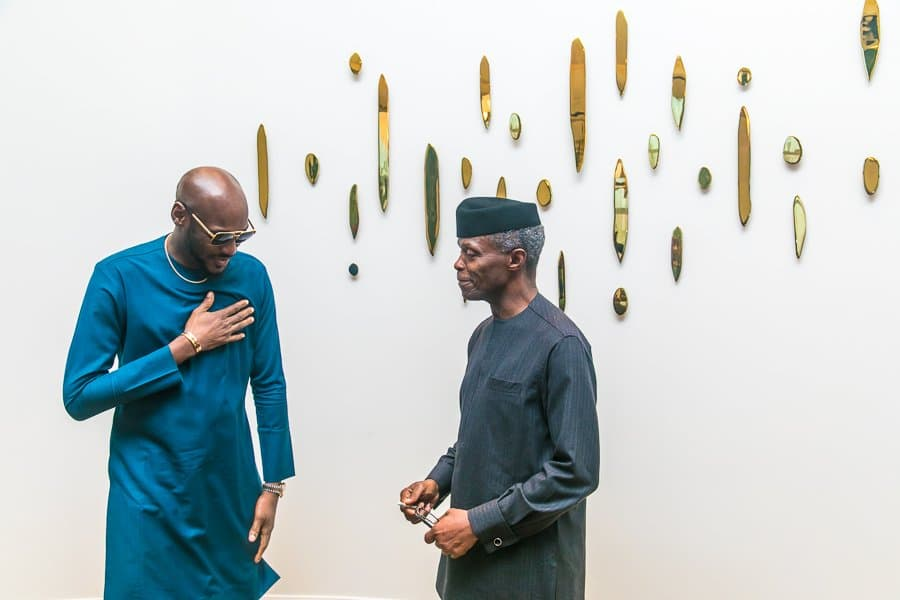 Osinbajo: 2face, Mo Abudu visit Hollywood and Silicon Valley (Photos)