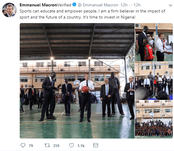 French national team - Emmanuel Macron