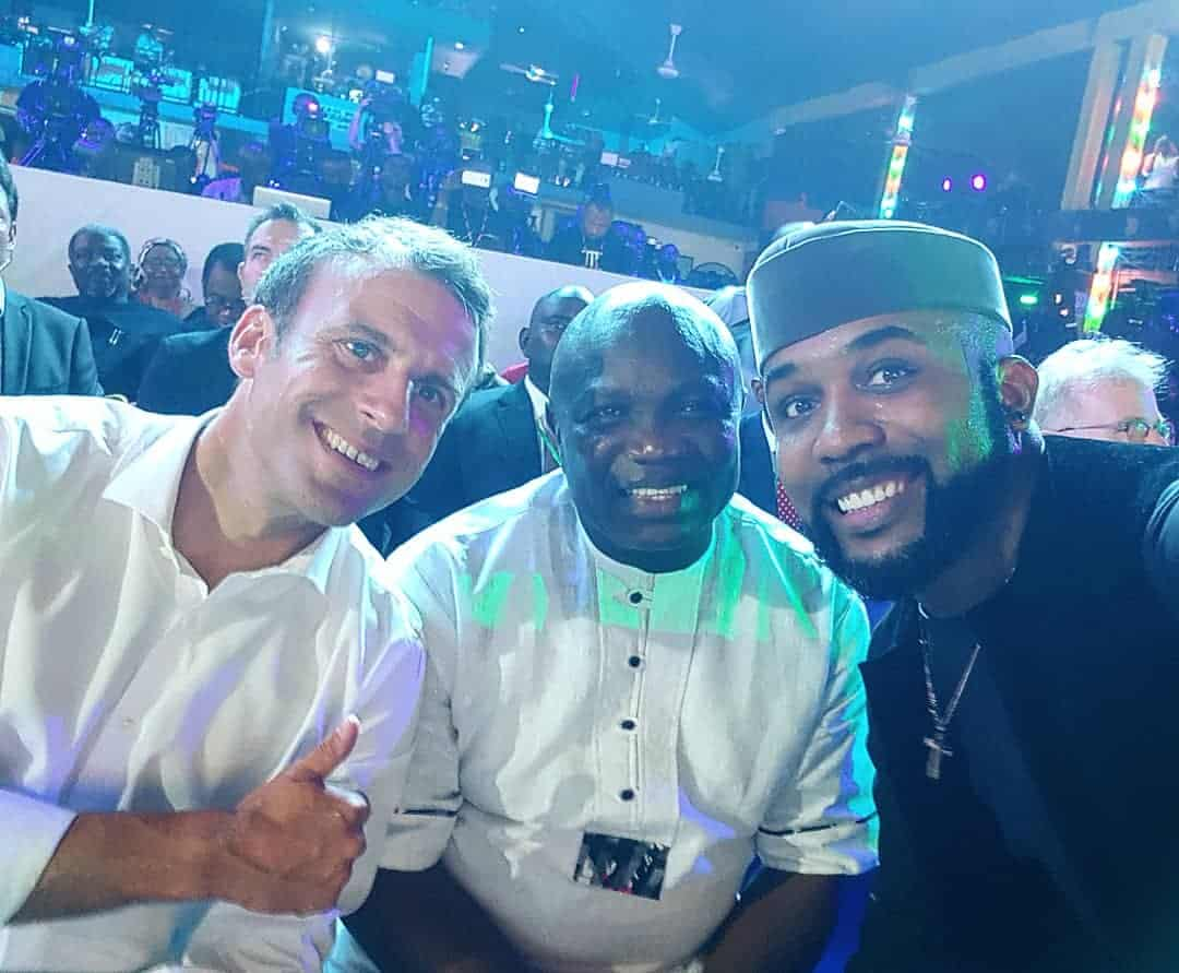 Photos of Emmanuel Macron at the New Afrika Shrine in Lagos