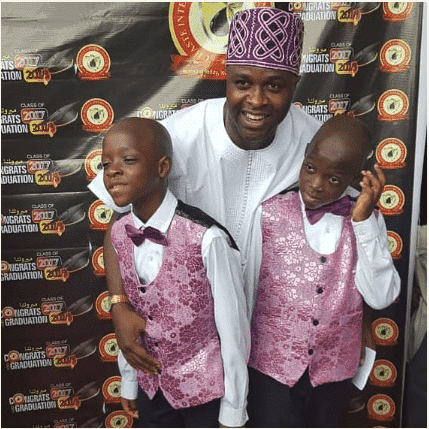 Photo of Actor Femi Adebayo celebrates his twin sons as they clock a year older
