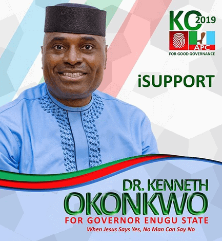 Photo of Actor Kenneth Okonkwo officially unveils his Enugu Governorship poster