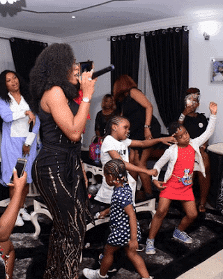 Photo of More photos from comedian Basketmouth's wife, Elsie Okpocha's birthday party