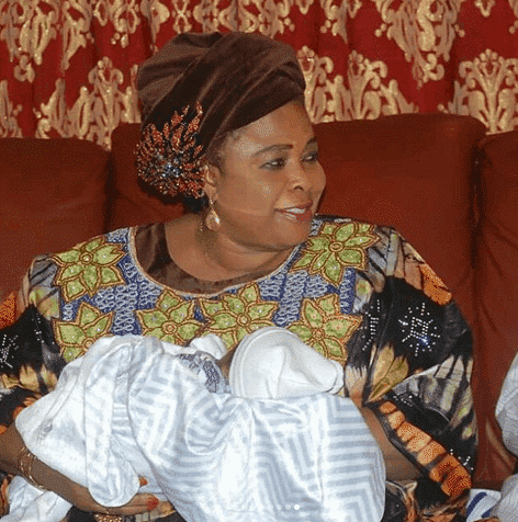 Photo of Patience Jonathan was excited after seeing Femi Fani-kayode's triplets (photos)