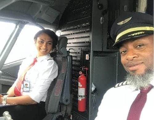 Photo of Akwa Ibom's first female pilot and hubby, mark 10th wedding anniversary (photos)