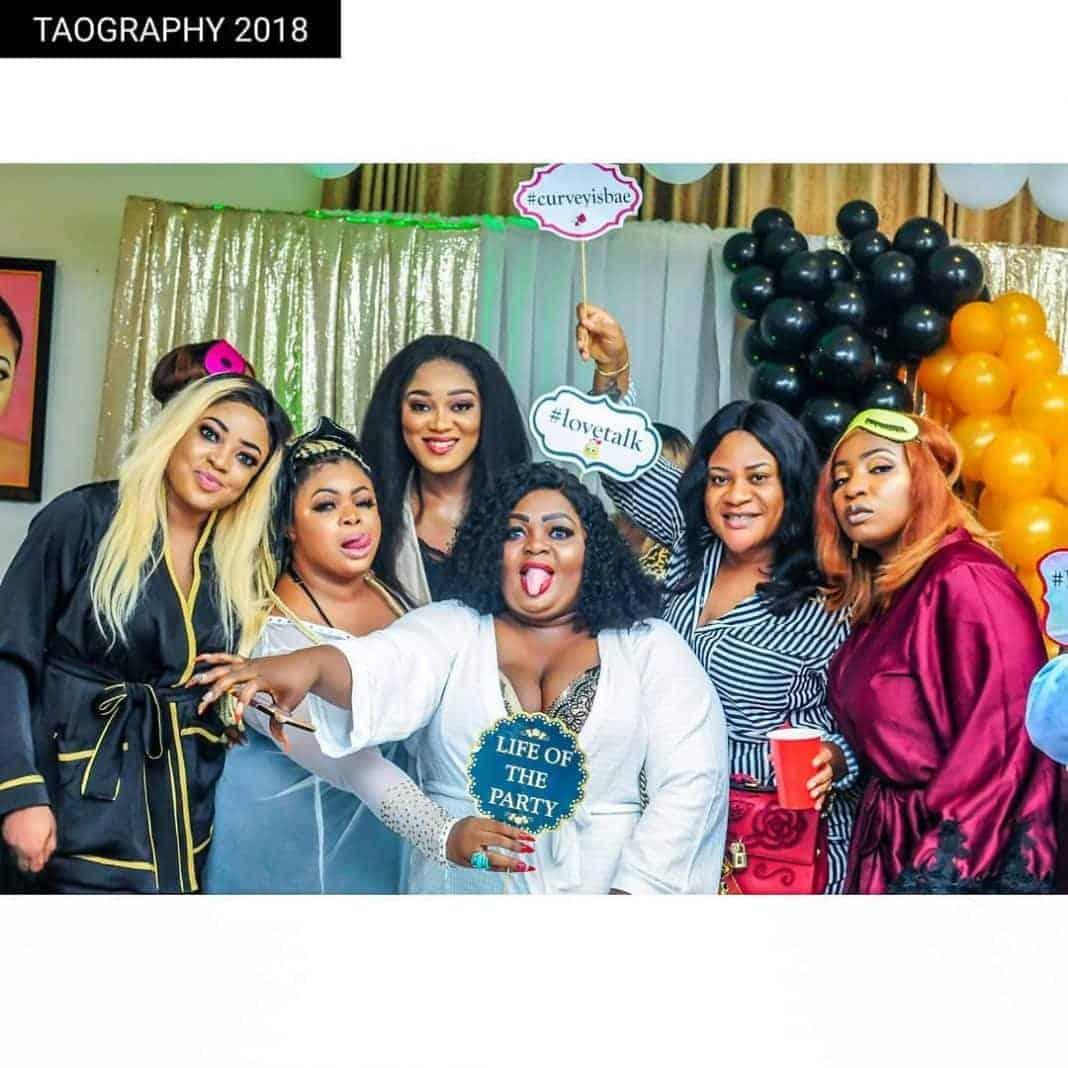 Photo of Tension as Faithia Balogun shuns Dayo Amusa's pyjamas party for top actresses (photos)