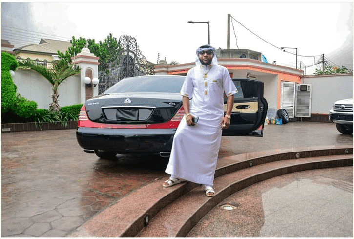 Photo of E-money poses beside his $500,000 Maybach 62s in new photo