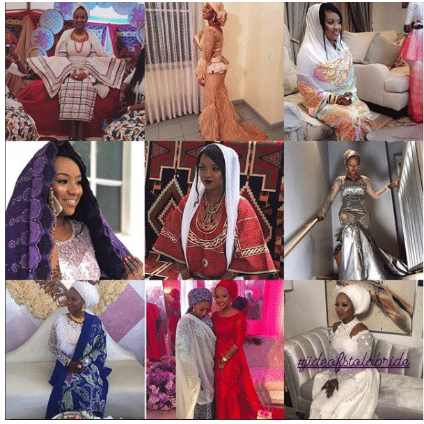 Photo of How Hauwa Indimi rocked 9 outfits on her wedding day