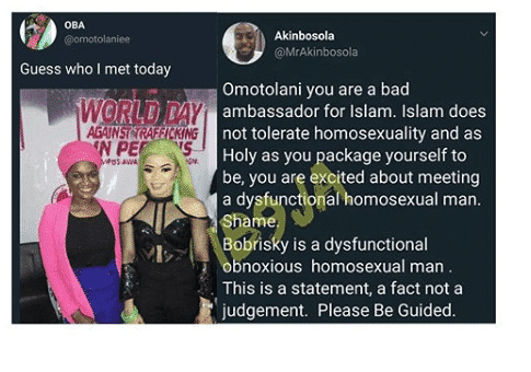 Muslim woman for taking pic with Bobrisky