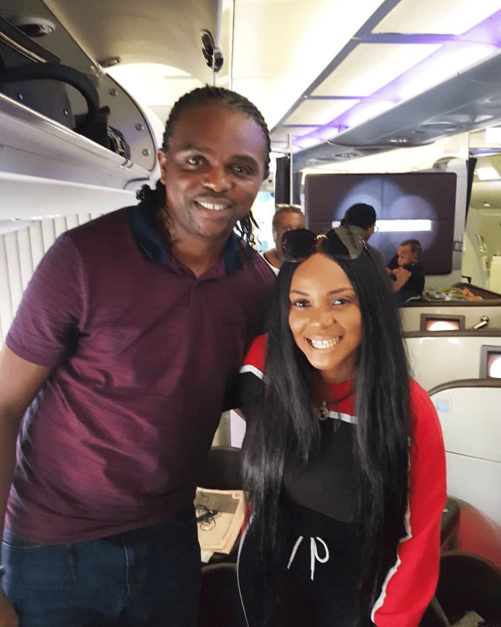 Photo of Actress Iyabo Ojo spotted with football legend, Kanu