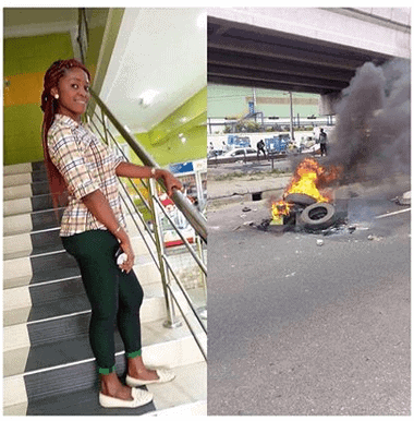 Photo of Lady shot in the head after getting robbed in Lagos