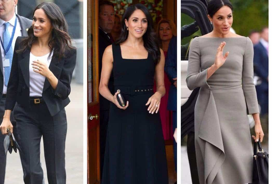 Photo of The 'colorless' wardrobe of Duchess of Sussex, Meghan Markle