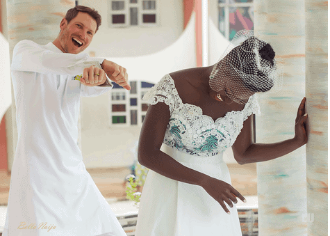 Photo of How Dora Akinyuli's newly wed daughter, Chidiogo, proposed to her white husband (photos)