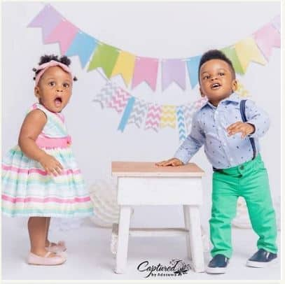 Photo of First photos from Paul and Anita Okoye's twins circus themed birthday party