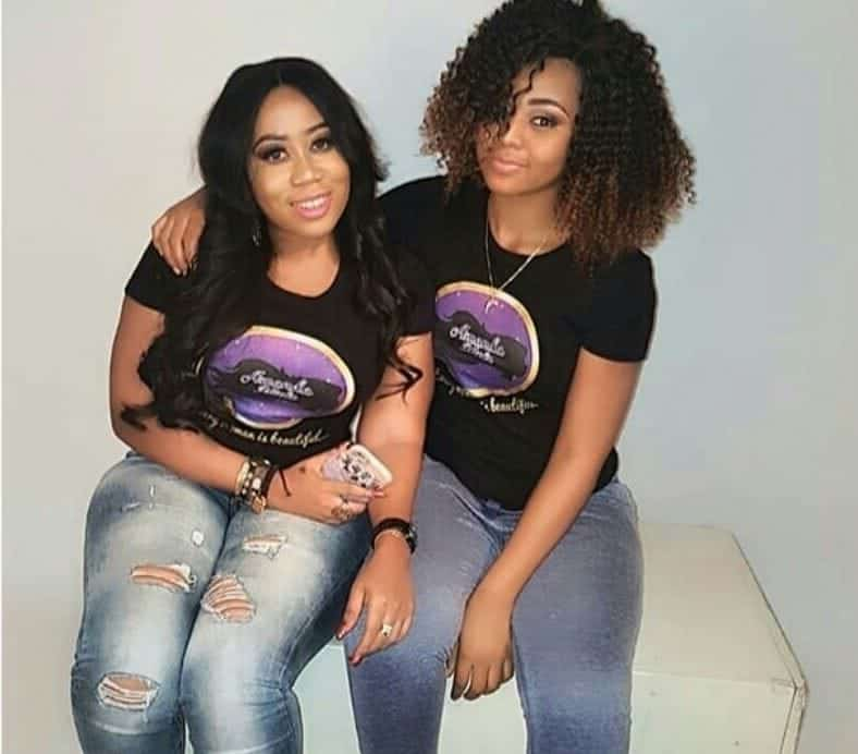 Photo of Moyo Lawal and Regina Daniels pictured together