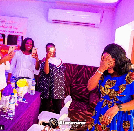 Photo of Sunmbo Adeoye shares throwback photos from her surprise baby shower
