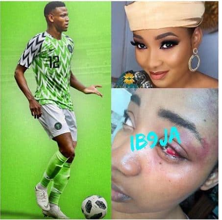 Photo of Super Eagles player batters wife