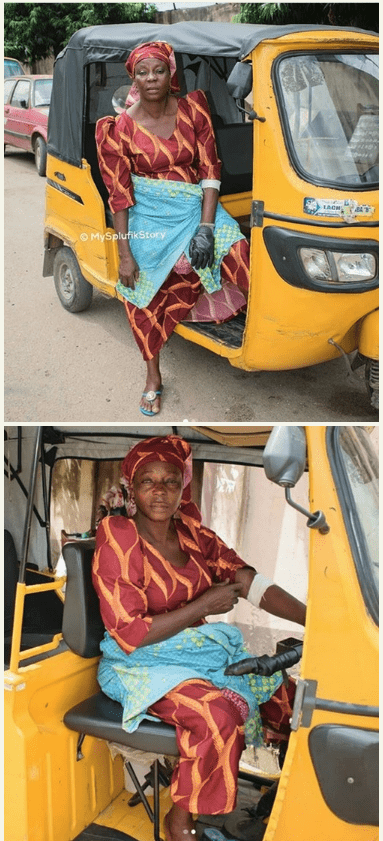 Photo of Emotional story of Nigerian widow who rides a tricycle for a living(photos)