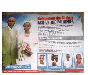 Photo of Family of seven that died in an auto crash, set for burial