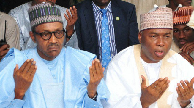 Photo of Buhari replies PDP from London on plans to impeach Saraki