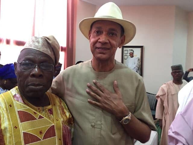 Photo of Ben Bruce praises Obasanjo for medical check up Bayelsa, shades Buhari for going to London