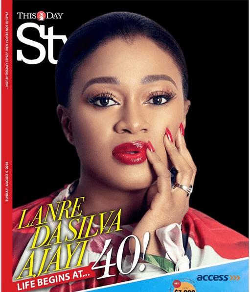 Photo of Designer, Lanre Da-Silva Ajayi covers ThisDay Style magazine as she turns 40