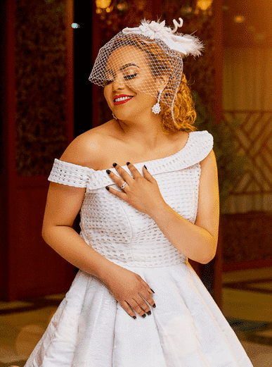 Photo of This wedding dress was made from the native Aso Oke (photos)