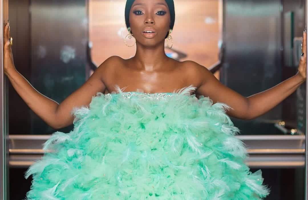 Photo of Bam Bam replies critics of her AMVCA dress