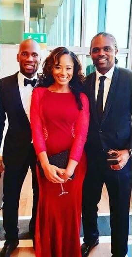 Photo of Kanu Nwankwo and Wife meet with Didier Drogba in London (Photos)